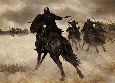 knights, horses, battles, Mount&Blade, artwork - desktop wallpaper