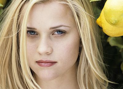 blondes, women, blue eyes, Reese Witherspoon, faces - random desktop wallpaper