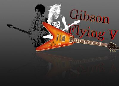 flying, Gibson, Jimi Hendrix, guitars, James Hetfield, FILSRU - random desktop wallpaper
