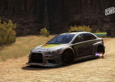 video games, vehicles, Codemasters, Mitsubishi Lancer Evolution, Dirt video game, Colin McRae - related desktop wallpaper