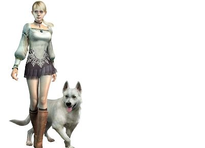 blondes, women, 3D view, video games, dogs, terror, Haunting Grounds - random desktop wallpaper