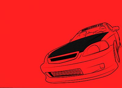 Honda, cars, vehicles, line drawing - desktop wallpaper