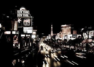 black and white, black, cityscapes, streets, white, cars, Las Vegas, urban, buildings - related desktop wallpaper