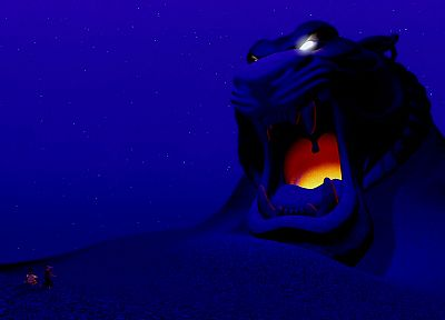 Disney Company, lions, Aladdin, blue background - random desktop wallpaper
