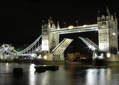 cityscapes, night, architecture, London, buildings, Tower Bridge - related desktop wallpaper