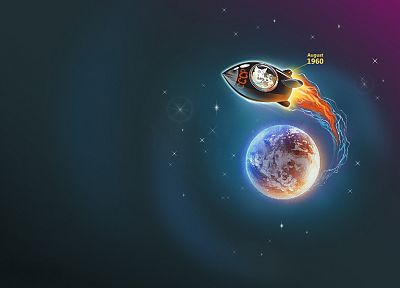 outer space, CCCP - random desktop wallpaper