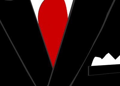minimalistic, suit - related desktop wallpaper