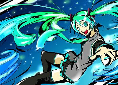 Vocaloid, Hatsune Miku, detached sleeves - related desktop wallpaper