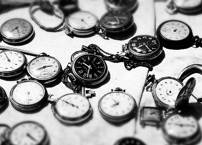 grayscale, monochrome, pocket watch, watches - desktop wallpaper