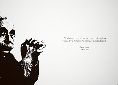 minimalistic, quotes, Albert Einstein, genius - related desktop wallpaper