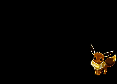Pokemon, Eevee, black background - random desktop wallpaper