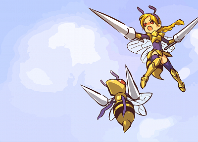 Pokemon, Beedrill, fan art, Hitec - desktop wallpaper