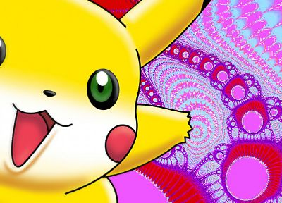 Pokemon, Pikachu, fractals, funny - desktop wallpaper