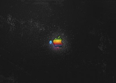 dark, Apple Inc., logos - desktop wallpaper