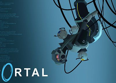 Valve Corporation, Portal, GLaDOS, Still alive, Jonathan Coulton - related desktop wallpaper
