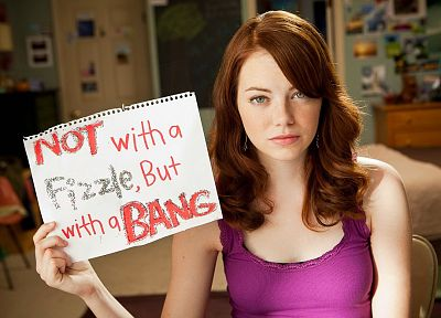 women, Emma Stone, Easy A - desktop wallpaper