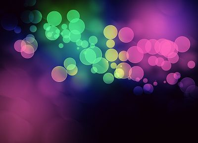 abstract, lights, multicolor, bokeh - desktop wallpaper