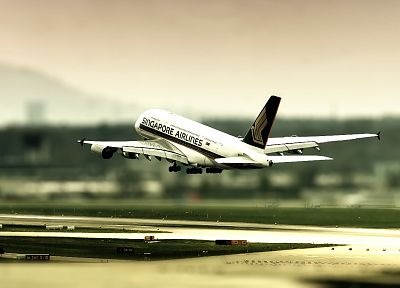 aircraft, Singapore, airliners, landing, Airbus A380-800 - related desktop wallpaper