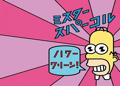 TV, WTF, Japanese, Homer Simpson, The Simpsons, Mr. Sparkle - desktop wallpaper
