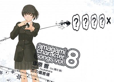 school uniforms, Amagami SS, white background, Tsukahara Hibiki - random desktop wallpaper