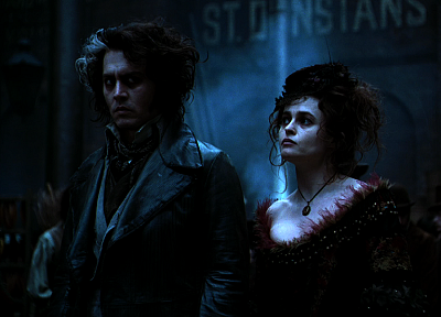 razor, Sweeney Todd, Helena Bonham Carter, romantic, Johnny Depp - random desktop wallpaper