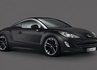 black, cars, vehicles, simple background, Peugeot RCZ - random desktop wallpaper