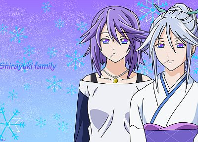 Shirayuki Mizore, Japanese clothes, Rosario to Vampire - related desktop wallpaper