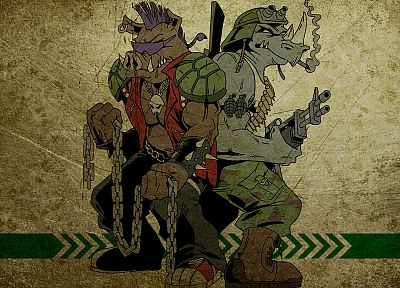 Teenage Mutant Ninja Turtles, Rocksteady - random desktop wallpaper