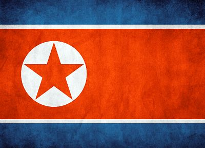 flags, North Korea - desktop wallpaper