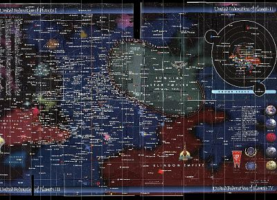 TV, outer space, Star Trek, galaxies, maps, infographics - desktop wallpaper