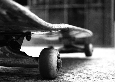 skateboards, grayscale, monochrome - random desktop wallpaper