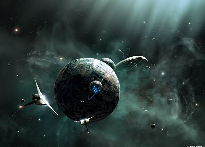 outer space, planets, JoeJesus, Josef Barton - related desktop wallpaper