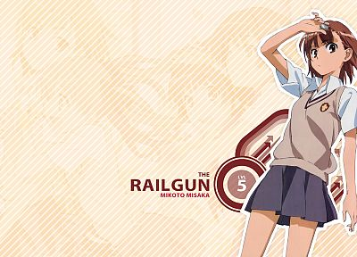 school uniforms, Misaka Mikoto, Toaru Kagaku no Railgun, Toaru Majutsu no Index - random desktop wallpaper