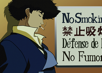 Cowboy Bebop, Spike Spiegel, no smoking - random desktop wallpaper