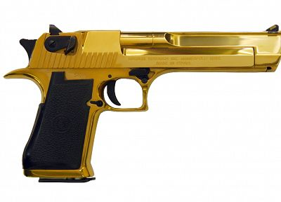 guns, gold, weapons, Desert Eagle, handguns, .50 cal - desktop wallpaper