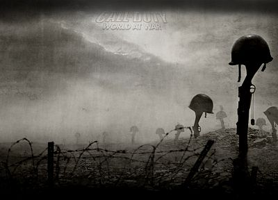 video games, World War II, monochrome, Call of Duty: World at War - random desktop wallpaper