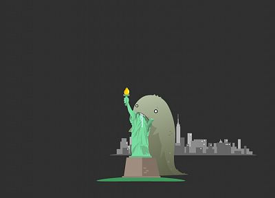 funny, New York City, Statue of Liberty - related desktop wallpaper