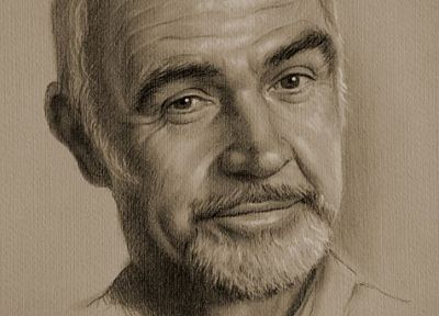 artistic, sketches, Sean Connery, Krzysztof Lukasiewicz - related desktop wallpaper