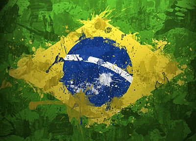 flags, Brazil - random desktop wallpaper