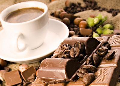coffee, chocolate, coffee beans - random desktop wallpaper