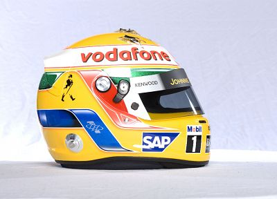 Formula One, helmets - random desktop wallpaper