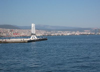 blue, cityscapes, Izmir, Turkey, saffet, sea - random desktop wallpaper