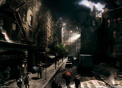 video games, cityscapes, 3D renders, 3D, Prototype (video game), Activision, mutation - related desktop wallpaper