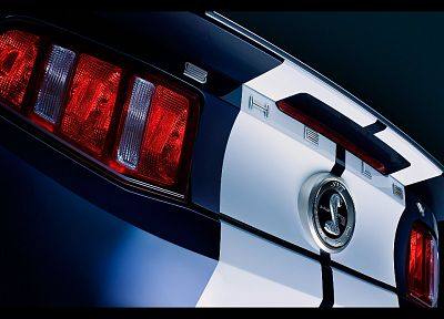 close-up, muscle cars, Ford Shelby, low-angle shot, taillights, Ford Mustang Shelby GT500 - related desktop wallpaper