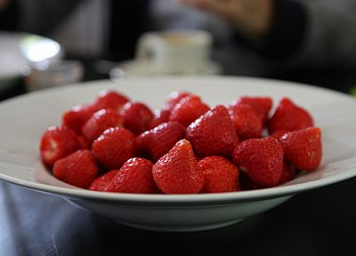 fruits, strawberries, depth of field - random desktop wallpaper