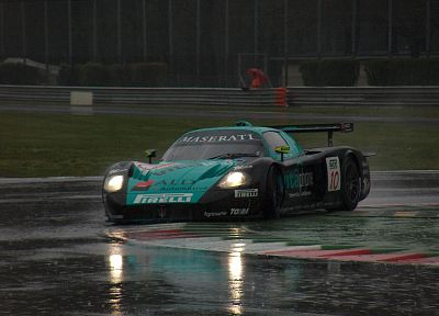 rain, cars, Maserati, vehicles, Maserati MC12 Corsa, race tracks - related desktop wallpaper
