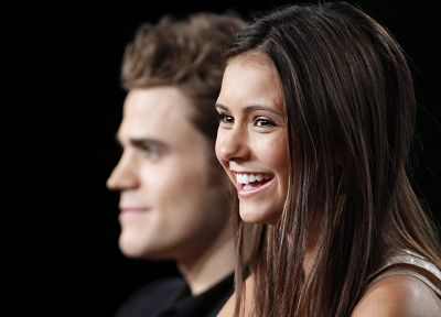 TV, Nina Dobrev, The Vampire Diaries, Paul Wesley - random desktop wallpaper