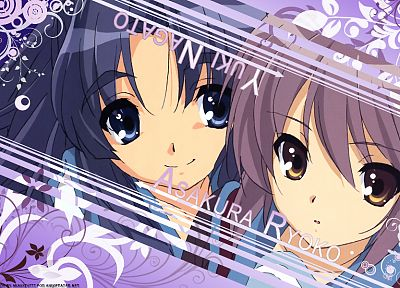 Nagato Yuki, The Melancholy of Haruhi Suzumiya, Asakura Ryouko - related desktop wallpaper
