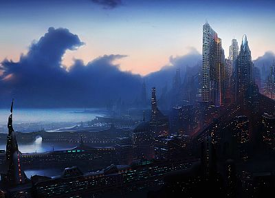 cityscapes, futuristic, artwork - related desktop wallpaper