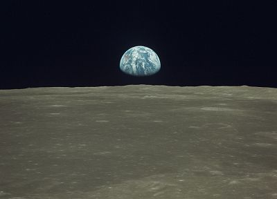 outer space, Moon, Earth, earthrise - random desktop wallpaper